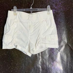 Hot Kiss- White Cargo Shorts size Medium